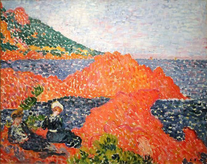 Louis Valtat, Die roten Felsen von Agay, 1903 (Collection Fondation Regards de Provence, Marseille), Foto: Alexandra Matzner.