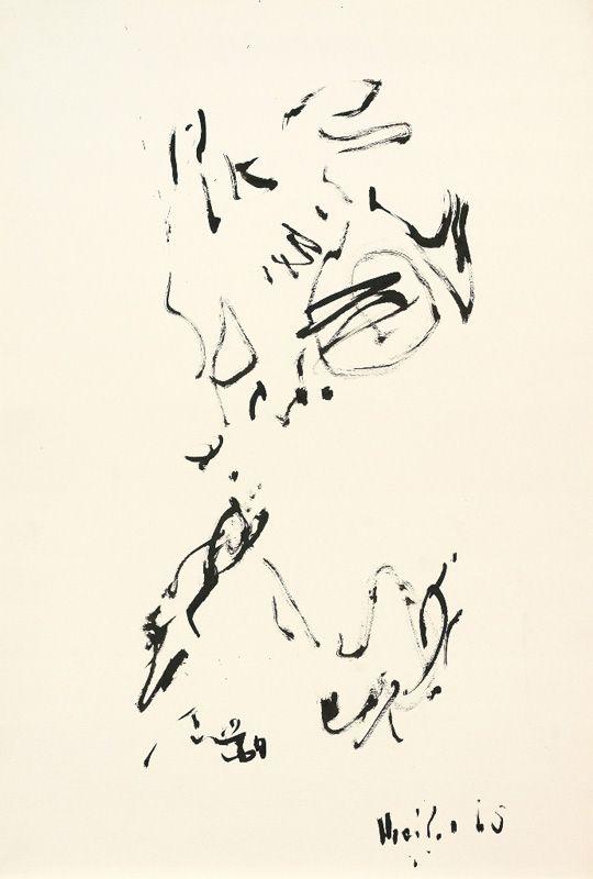 Max Weiler, Wie eine Landschaft, 1967, Pinsel in Tusche, Grafit auf Papier © Yvonne Weiler.