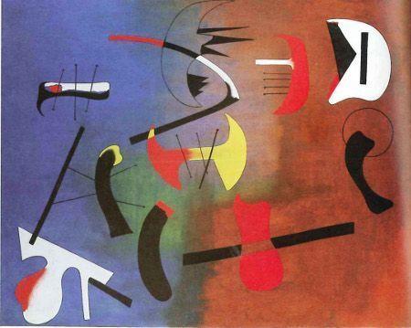 Joan Miró, Malerei, 1933, Öl auf Leinwand, Prag, Narodni Galerie © Successió Miró 2014