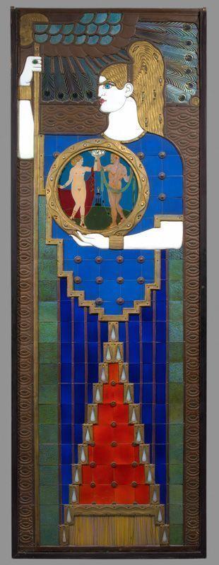 Richard Teschner (1879–1948), Die Malerei, Glasmosaik, 1906 © Österreichisches Theatermuseum.
