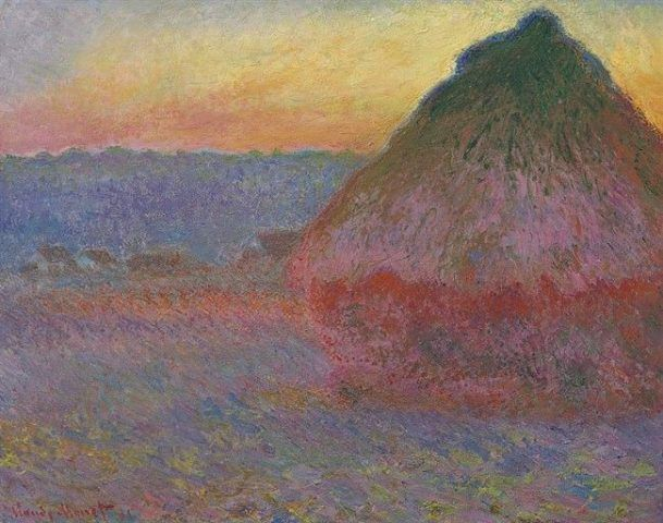 Claude Monet, Meule [Heuschober], 1891, Öl auf Leinwand, 72,7 x 92,1 cm (Privatbesitz © Courtesy Christie's New York)