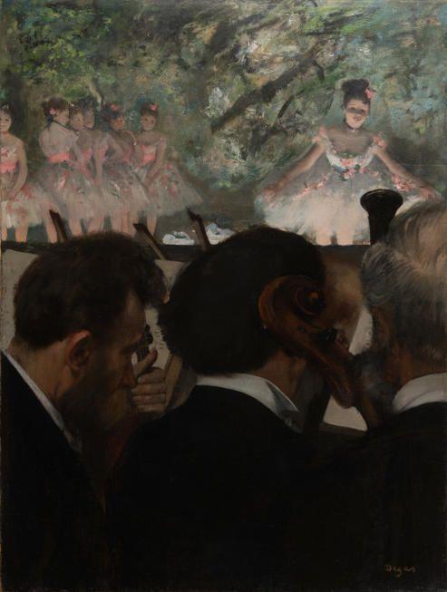 Edgar Degas (1834-1917), Die Orchestermusiker, 1872, Öl auf Leinwand, 69 x 49 cm, Städel Museum, Frankfurt am Main, Foto: Städel Museum – ARTOTHEK.