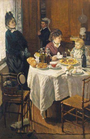 Claude Monet, Das Mittagessen, 1868, Öl auf Leinwand, 231,5 x 151 cm, Städel Museum, Frankfurt am Main, Foto: Städel Museum – ARTOTHEK © Städel Museum, Frankfurt am Main.