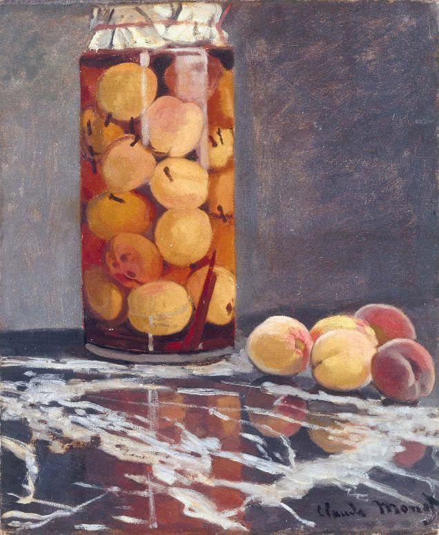 Claude Monet, Pfirsichglas, ca. 1866, Öl auf Leinwand, 55,5 x 46 cm, Galerie Neue Meister, Staatliche Kunstsammlungen Dresden © Galerie Neue Meister, Staatliche Kunstsammlungen Dresden.