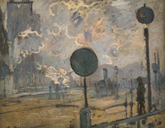 Claude Monet, La gare Saint-Lazare à l'extérieur (le signal), 1877 (Niedersächsisches Landesmuseum, Hannover)