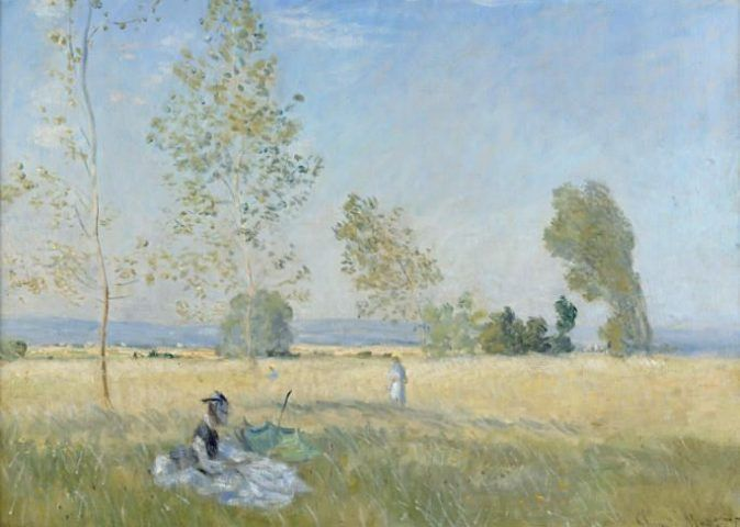 Claude Monet (1840-1926), Sommer, Detail, 1874, Öl auf Leinwand, 57 x 80 cm, Staatliche Museen zu Berlin, Nationalgalerie Foto: bpk / Nationalgalerie, SMB / Jörg P. Anders.