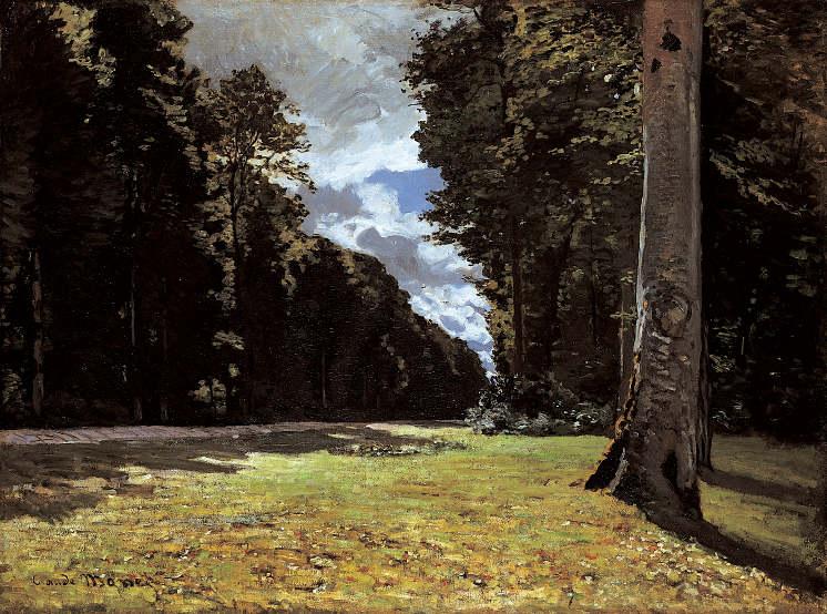 Claude Monet (1840-1926), Die Straße von Chailly durch den Wald von Fontainebleau, 1865, Öl auf Leinwand, 97 x 130,5 cm, Ordrupgaard, Copenhagen, Foto: Pernille Klemp © Ordrupgaard, Copenhagen.