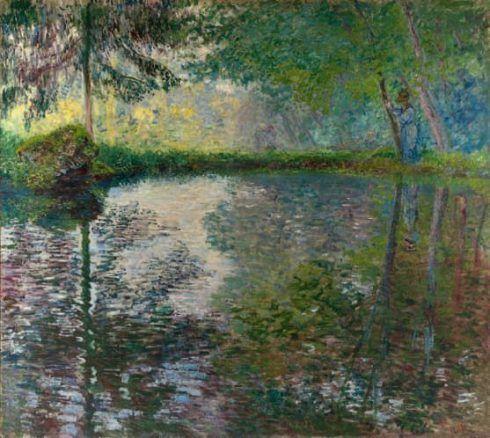 Claude Monet, L'étang à Montgeron [Teich in Montgeron], 1876, Öl auf Leinwand, 174 x 194 cm (© State Hermitage Museum, St Petersburg)