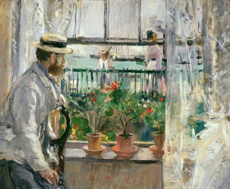 Berthe Morisot (1841–1895), Eugène Manet auf der Isle of Wight, 1875, Öl auf Leinwand, 36 x 46 cm, Musée Marmottan Monet, Paris, Foto: Bridgeman Images.