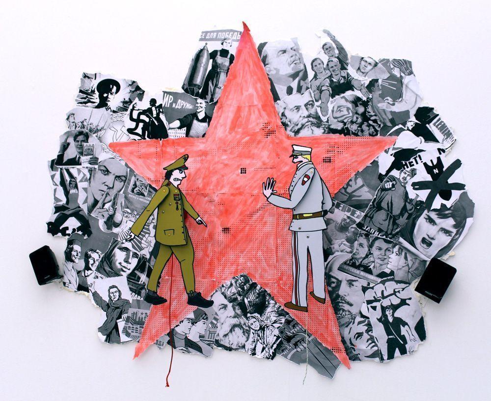 monochrom, Die Russen kommen!, Installationsansicht im MUSA 2013, Foto: Alexandra Matzner © monochrom.