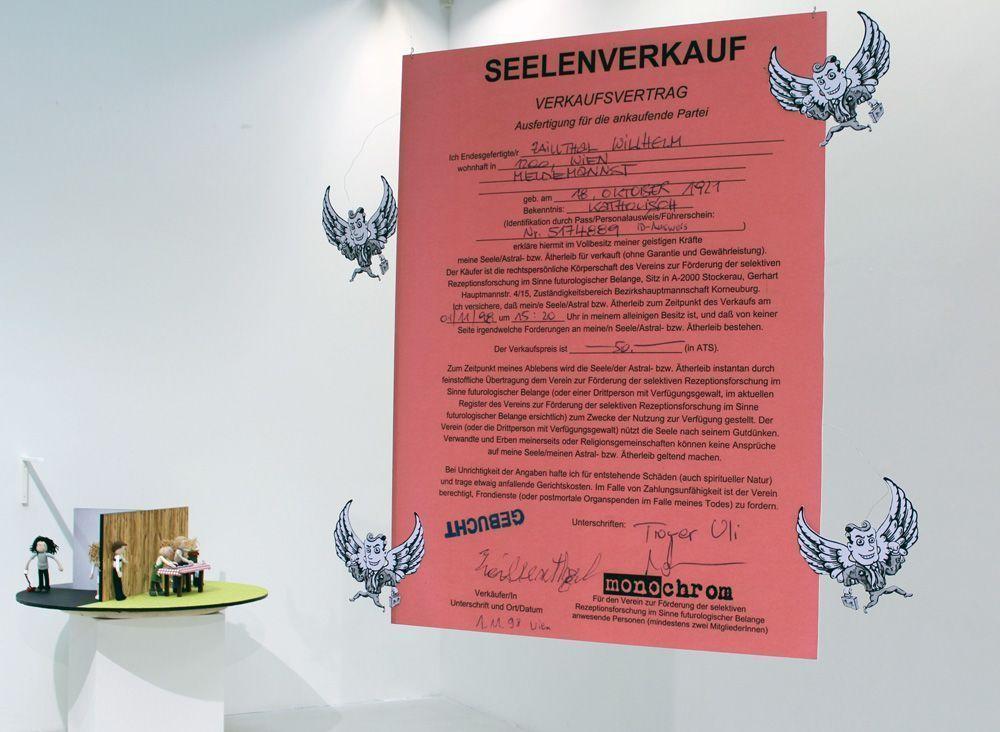 monochrom, Seelen als virtuelles Kapital, Installationsansicht im MUSA 2013, Foto: Alexandra Matzner © monochrom.