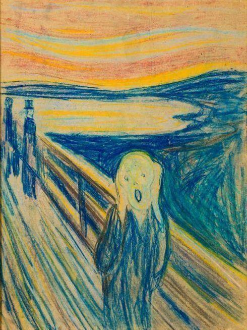 Edvard Munch, Der Schrei, 1893, Ölkreide auf Karton, 74 × 56 cm, The Munch Museum, Oslo.