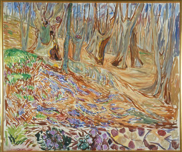 Edvard Munch, Frühling im Elm Wald III, 1923, Öl auf Leinwand, 109 × 130 cm, The Munch Museum, Oslo.