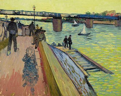 Vincent van Gogh, Die Brücke in Trinquetaille, 1888, Öl auf Leinwand, 65 × 81 cm, Privatsammlung.