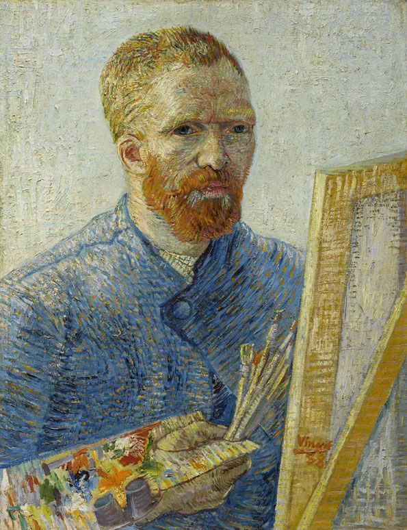Vincent van Gogh, Selbstporträt als ein Maler, 1887–88, Öl auf Leinwand, 65,1 × 50 cm, Van Gogh Museum, Amsterdam.