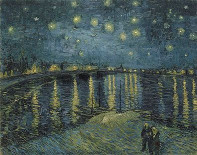 Vincent van Gogh, La Nuit étoilée [Sternennacht über der Rhone], 28. September 1888, Öl auf Leinwand, 72,5 x 92 cm (Musée d'Orsay, Paris, Geschenk von Mr und Mrs Robert Kahn-Sriber, in Gedenken an Mr und Mrs Fernand Moch, 1975)