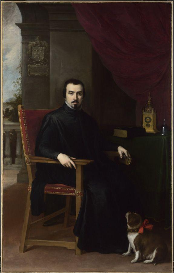 Bartolomé Esteban Murillo, Don Justino de Neve, 1665, 206 x 129.5 cm, The National Gallery, London. Bought, 1979.