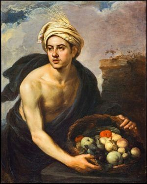 Bartolomé Esteban Murillo, Ein junger Mann mit einem Fruchtkorb (Personifikation des 'Sommers'), 1660-65, oil on canvas, 101.9 x 81.6 cm, Scottish National Gallery, Purchased by Private Treaty with the aid of the Art Fund 1999.
