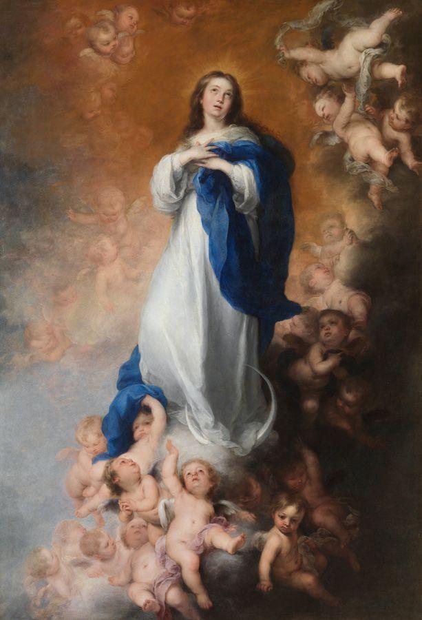 Bartolomé Esteban Murillo, Immaculata Conceptio der Venerables Sacerdotes, 1660–1665, Öl auf Leinwand, 274 x 190 cm (Museo Nacional del Prado, Madrid)