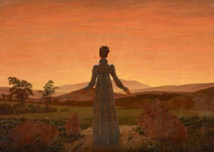 Caspar David Friedrich, Frau vor der untergehenden Sonne, um 1818, Foto: Museum Folkwang, Jens Nober.
