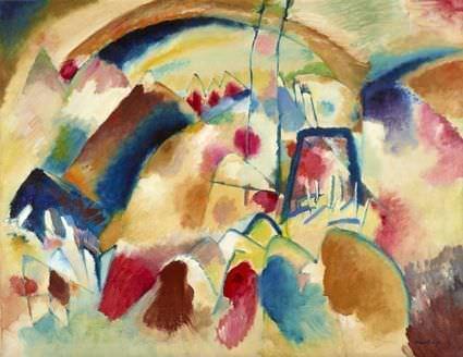 Wassily Kandinsky, Landschaft mit Kirche (Landschaft mit roten Flecken I), 1913, Foto: Museum Folkwang, Jens Nober.