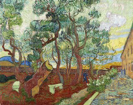 Vincent van Gogh, Der Garten des Krankenhauses von Saint-Rémy, ca. 1. November 1889, Öl auf Leinwand, 73,5 x 92 cm (Folkwang Museum, Essen)
