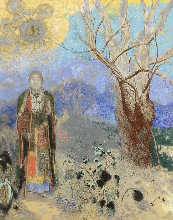 Odilon Redon, Buddha, um 1905, Pastell auf Papier, 90 x 73 cm, Musée d'Orsay, Paris, Foto: © RMN-Grand Palais (Musée d'Orsay) / Hervé Lewandowski.