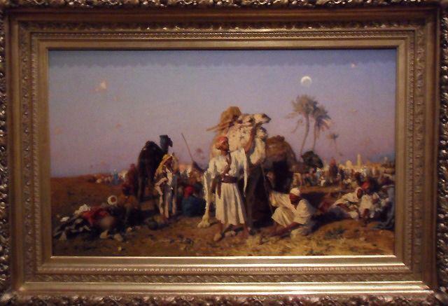 Leopold Carl Müller, Die Karawane, 1876 (Graz, Neue Galerie Graz am Universalmuseum Joanneum), Foto: Alexandra Matzner.