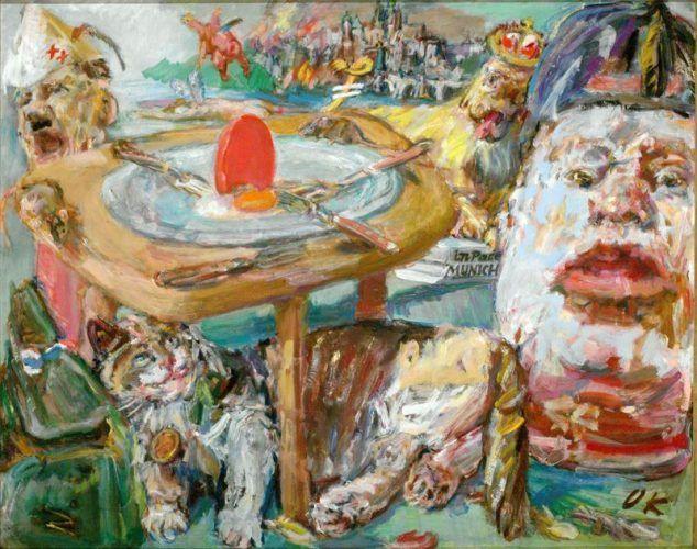Oskar Kokoschka, Das rote Ei, 1940/1941, Öl auf Leinwand © Fondation Oskar Kokoschka/VBK, Wien 2008 (Národní Galerie, Prag)