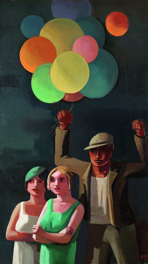 Otto Rudolf Schatz, Der Ballonverkäufer, 1929, Belvedere, Wien © Bildrecht, Wien 2016.