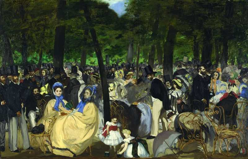 Edouard Manet, Die Musik in den Tuilerien, 1862, Öl auf Leinwand, 76,2 x 118,1 cm, London, The National Gallery © The National Gallery, Londons.