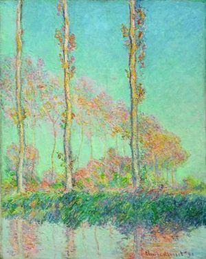 Claude Monet, Pappeln, drei rosa Bäume, Herbst, 1891, Öl auf Leinwand, 93 x 74,1 cm, Philadelphia, Philadelphia Museum of Art © Philadelphia Museum of Art.