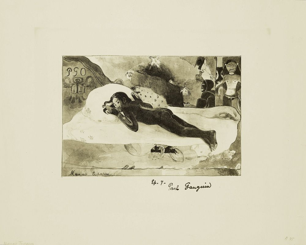 Paul Gauguin, Manao Tupapau (Sie denkt an den Geist - Der Geist denkt an sie), 1894.