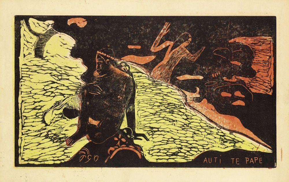Paul Gauguin, Noa Noa, Auti Te Pape (Spiel im Süsswasser), 1893–1894.