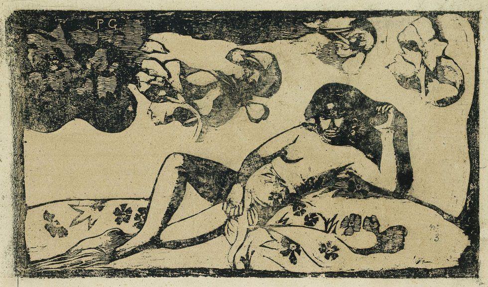 Paul Gauguin, Te Arii Vahine. Opoi (Frau mit Mangos. Müdigkeit), 1898.