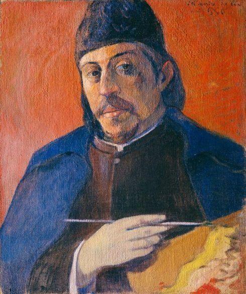 Paul Gauguin, Autoportrait à la palette (Selbstportrait mit Palette), ca. 1893, Öl auf Leinwand, 92 x 73 cm, Privatsammlung.