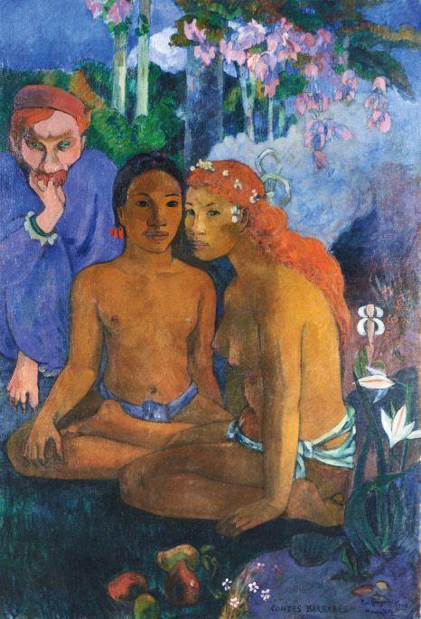 Paul Gauguin, Contes Barbares (Barbarische Erzählungen), 1902, Öl auf Leinwand, 131,5 x 90,5 cm, Museum Folkwang, Essen, Foto: © Museum Folkwang, Essen.