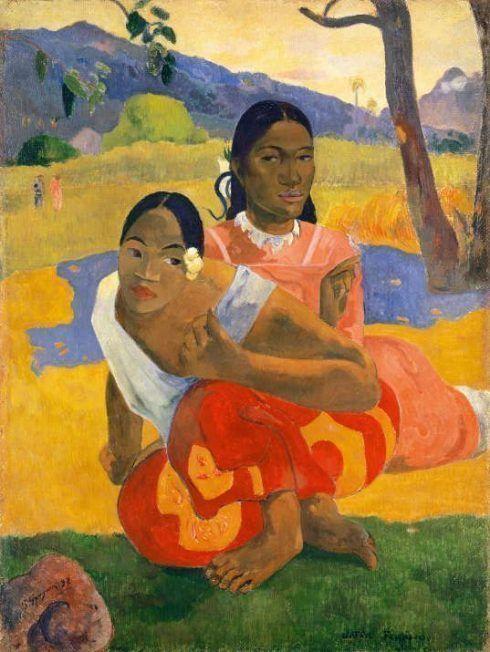 Paul Gauguin, Nafea faaipoipo, 1892, Quand te maries-tu?, Wann heiratest Du?, Öl auf Leinwand, 105 x 77,5 cm, Sammlung Rudolf Staechelin, Foto: Kunstmuseum Basel, Martin P. Bühler.