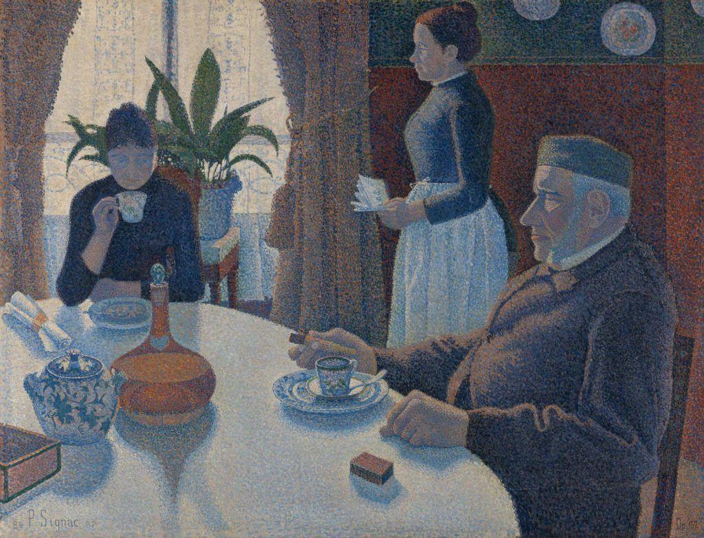 Paul Signac, Das Speisezimmer (Frühstück), 1886/87, Öl auf Leinwand, 89,5 × 116,5 cm (Otterlo, Kröller-Müller Museum)