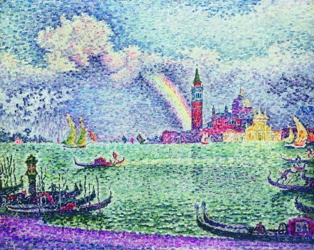 Paul Signac, L'arc (Der Regenbogen, Venedig), 1905, Öl auf Leinwand, 73 x 92 (Privatsammlung)