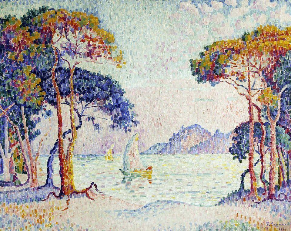 Paul Signac, Juan-les-Pins. Soir, 1914, Öl auf Leinwand, 73 x 92 cm (Privatsammlung)