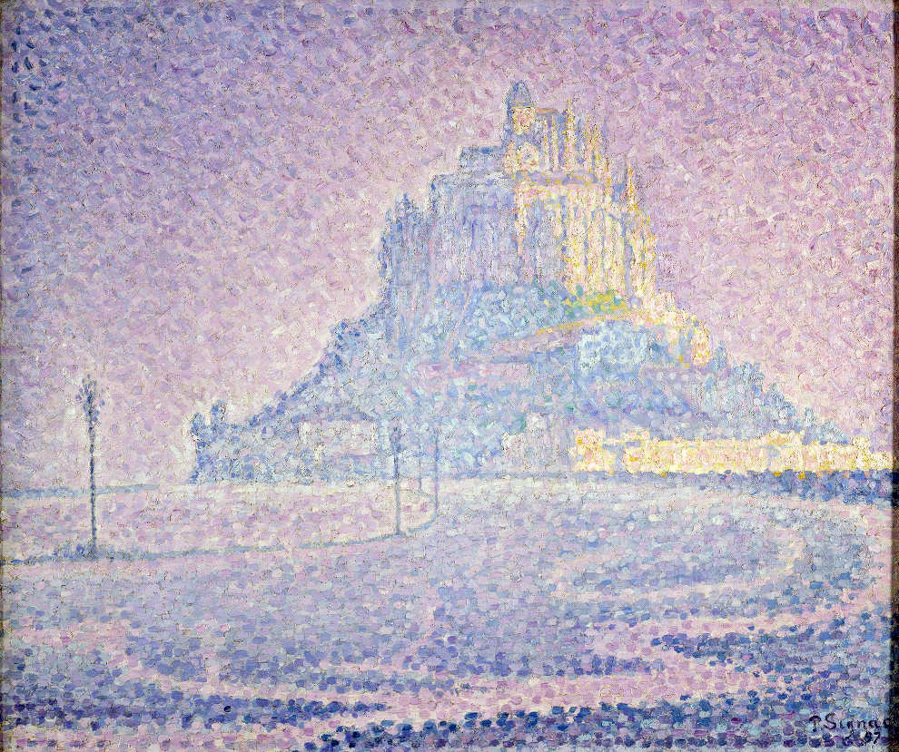 Paul Signac, Mont Saint-Michel. Brume et soleil, 1897, Öl auf Leinwand, 46,7 x 55,5 cm (Privatsammlung)