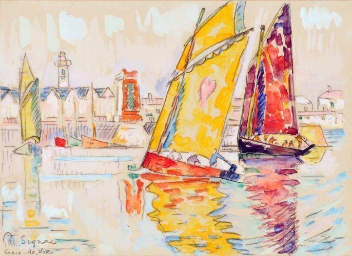 Paul Signac, Croix-de-Vie, 1929, Aquarell, 20,3 x 28,6 cm (Privatsammlung)