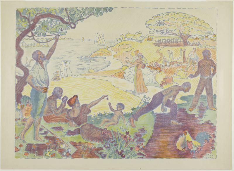 Paul Signac, Zeitalter der Harmonie, 1895, Druck