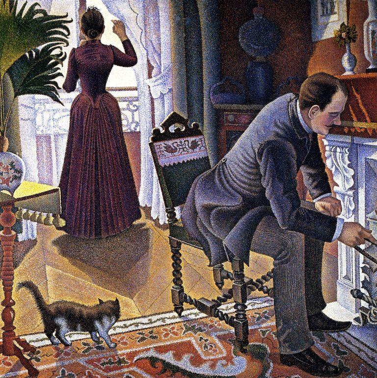 Paul Signac, Sonntag, 1888–1890, 149,86 x 149,86 (Privatsammlung)