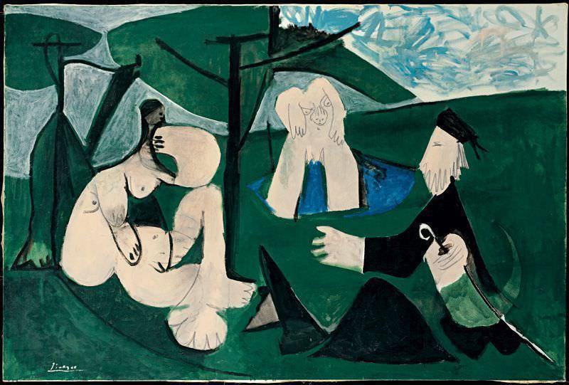 Pablo Picasso, Das Frühstück im Grünen, 29. Februar 1960, Öl auf Leinwand, 114 x 146 cm © Succession Picasso/VBK, Wien, 2006, Privatbesitz.