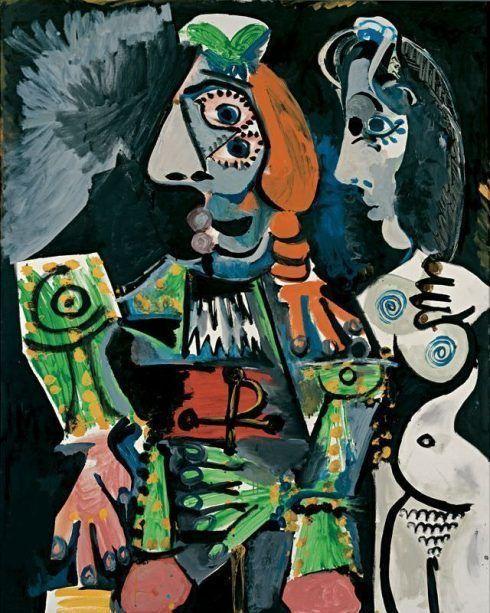 Pablo Picasso, Matador und weiblicher Akt, 17. Oktober 1970, Öl auf Leinwand, 162 x 130 cm © Succession Picasso/VBK, Wien, 2006, Ludwig Museum – Museum für zeitgenössische Kunst, Budapest, Foto: József Rosta.