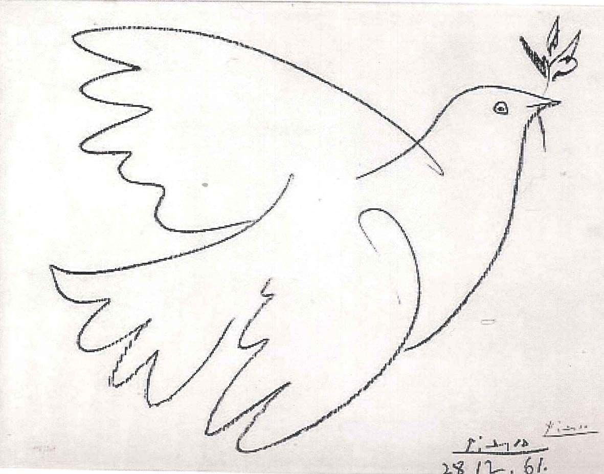Pablo Picasso Erfindung Der Friedenstaube 1949