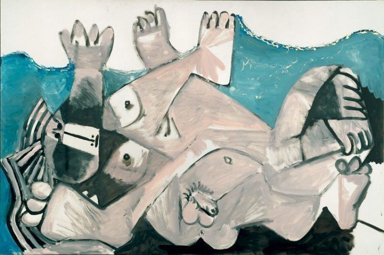 Pablo Picasso, Die Umarmung, 1. Juni 1972, Öl auf Leinwand, 130 x 195 cm © Succession Picasso/VBK, Wien, 2006, Larry Gagosian, Foto: Robert McKeever.