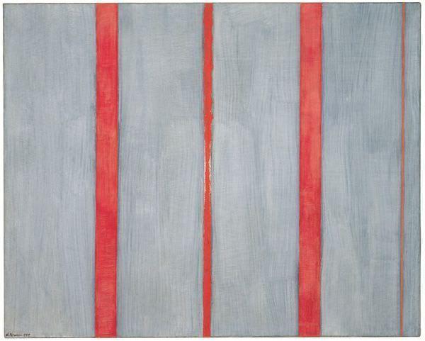 Barnett Newman, The Name I, 1949, Öl und Acryl (Magna) auf Leinwand, 122 x 152.5 cm, Daros Collection, Switzerland ©2013 ProLitteris, Zürich.
